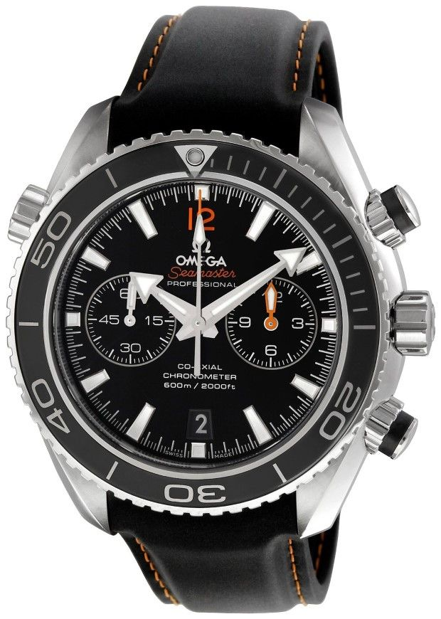 Men watches Omega Men's 232.32.46.51.01.005 Seamaster Planet Ocean Black Dial Watch