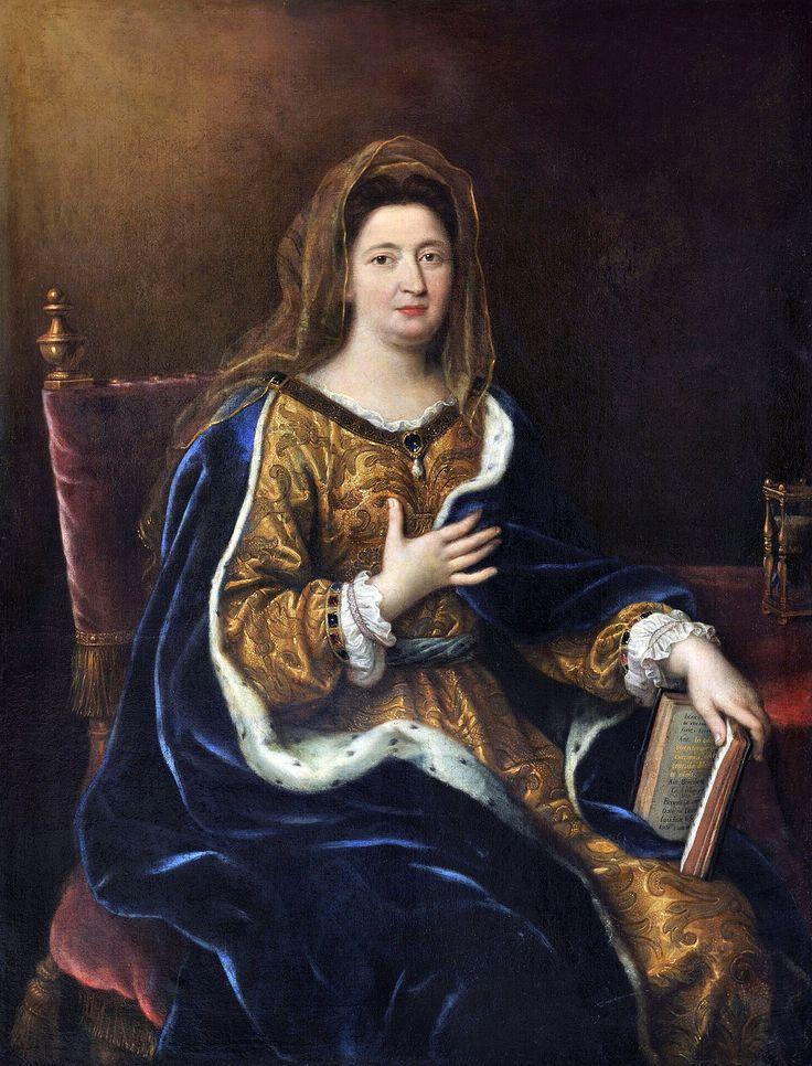 Madame de Maintenon, née Françoise d'Aubigné (1635-1719). Epouse morganatique du roi de France et de Navarre. Pierre Mignard, 1694.