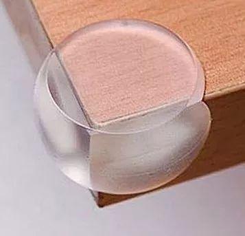 protetor quina canto mesa cama bebê silicone / kit 10 unid