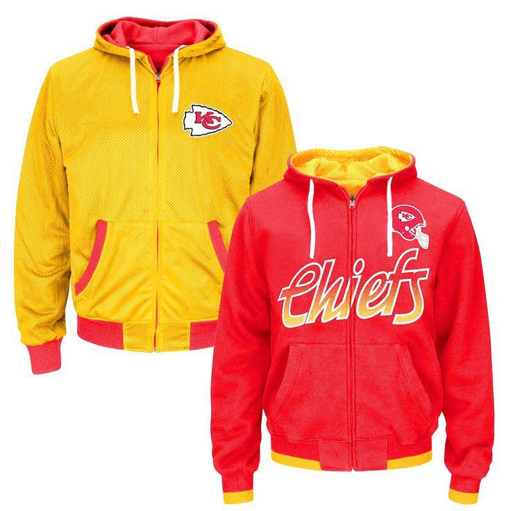 Kansas City Chiefs Game Time Reversible Full Zip Hoodie – Red - $105.44