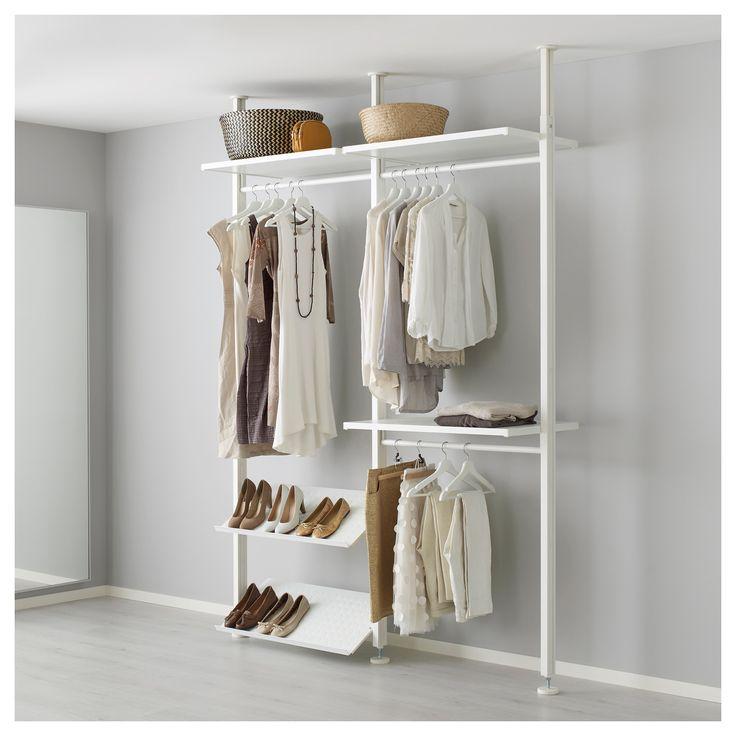 ikea elvarli 2 section shelving unit white begehbarer. Black Bedroom Furniture Sets. Home Design Ideas