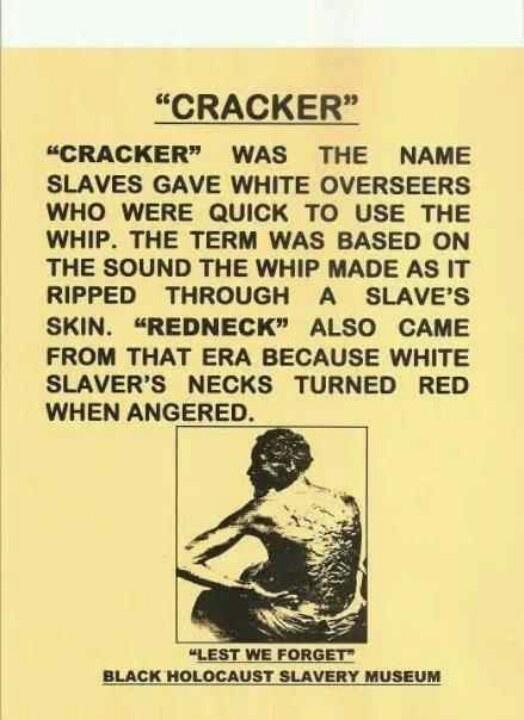 Image Result For Cracker Racist Slang