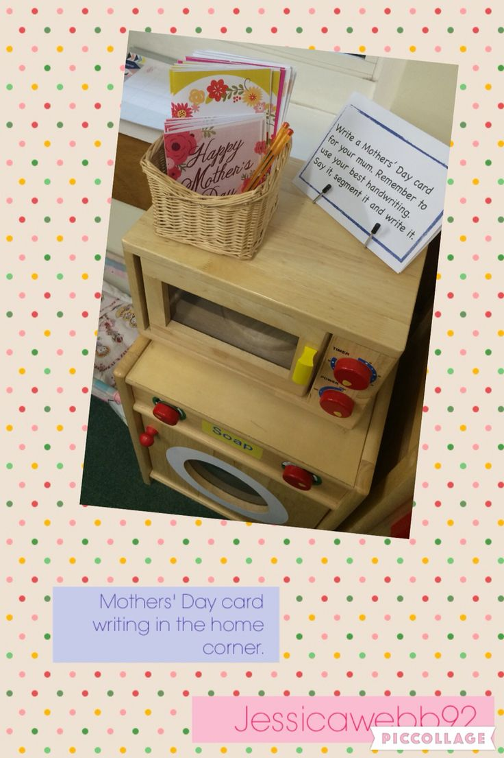 Writing mothers 39 day cards in the home corner eyfs continuous provision ideas pinterest - Writing corner ideas ...