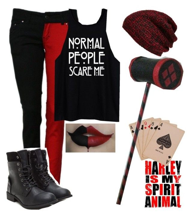 Harley Quinn Inspired Outfit by eating-paintchips on Polyvore featuring King & Fifth Supply Co.