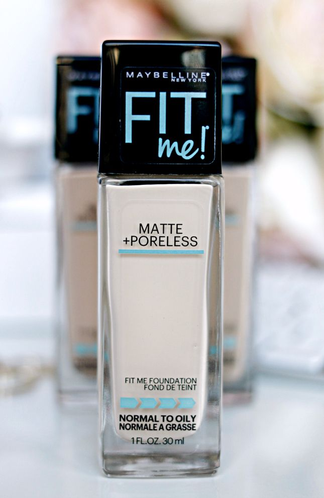 Maybelline Fit Me Matte + Poreless Foundation Review |