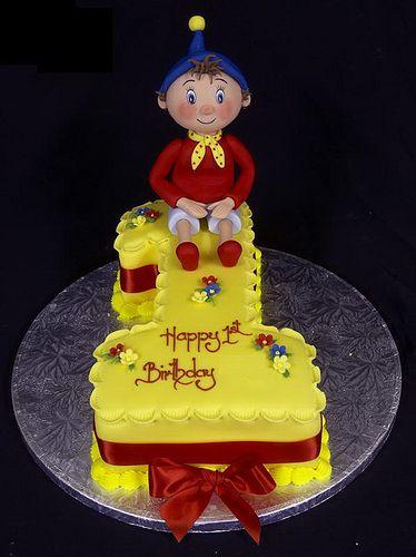 Figura Una torta di compleanno con mano Sugarpaste Modello di Noddy