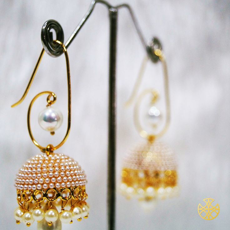 If you're going to be dressed for long hours, light weight earrings are a must. Try these delicate pearl jhumkis for effortless beauty.  Follow us on Instagram: instagram.com/malanajewels/       Like us on Facebook: www.facebook.com/malanajewels       To buy, please mail us on info@malanajewels.com with your requirements or call us on +91 9820302982.