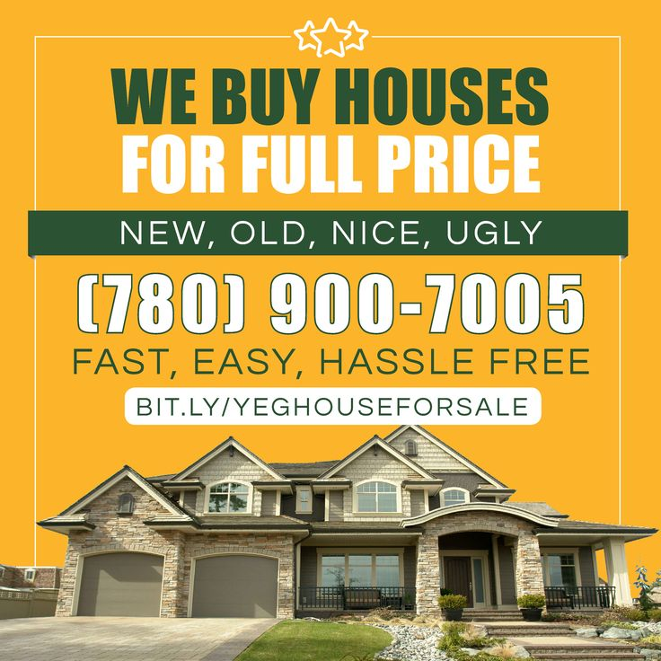 We Buy Houses in Edmonton, Alberta, Canada. I'm not a real estate broker, I'm a real estate investor associated with a group of  investors that buys several houses every month and would like to buy more. Give US A CALL TODAY. #MLS #comfree