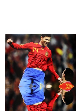 Xabi Alonso Signed Spain Photo