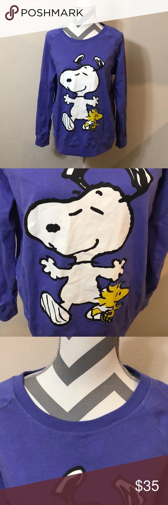 Women's Peanut Shirt- XXL Peanuts Brand shirt, size XXL (19), Excellent condition, super cute inside I️ would say makes it reversible, purple, long sleeves, crew neck, super cute shirt! Peanuts Tops