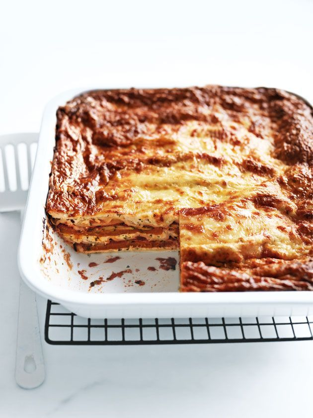 zucchini, pumpkin and ricotta lasagne