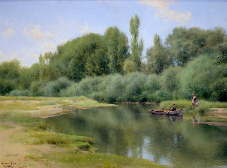 "Emilio Sanchez Perrier-""Landscape Near Guillena"" ,  13 7/8 x 10 1/2"" , oil on panel, Memorial Art Gallery, Rochester, NY"
