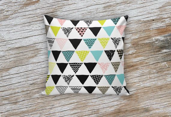 Colorful Aztec Triangle Decorative Pillows