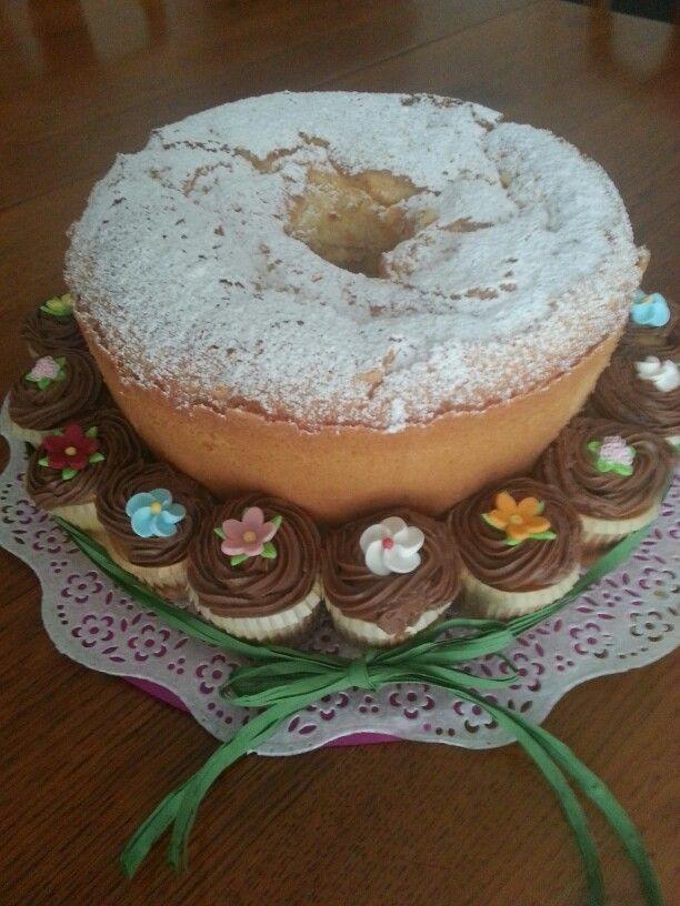 Angel cake e mini-muffins