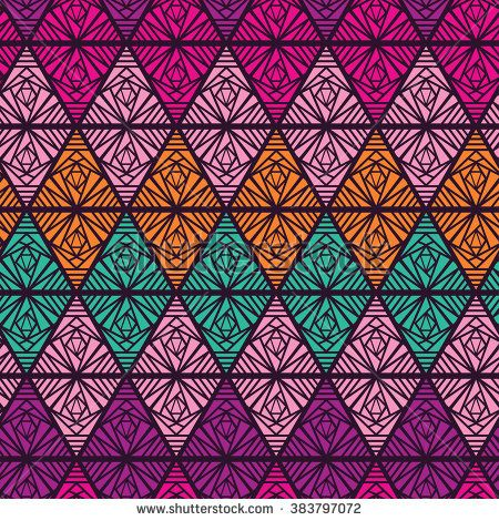 Abstract seamless ornament. Beautiful background with geometric figures