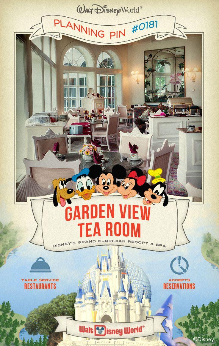 Walt Disney World Planning Pin Garden View