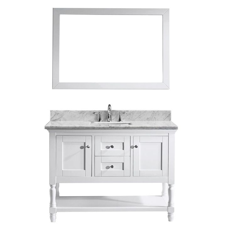 virtu usa julianna 48inch italian carrara white marble single bathroom vanity cabinet set by virtu usa