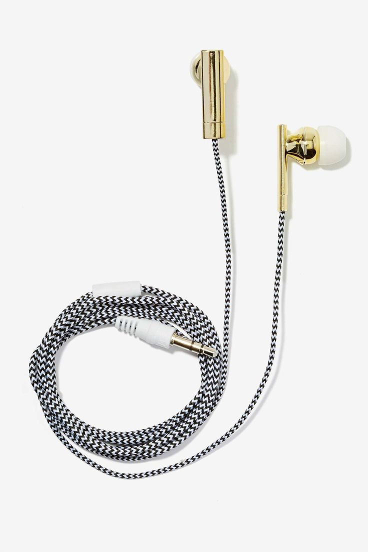 Skinnydip London Earbuds - Black/White