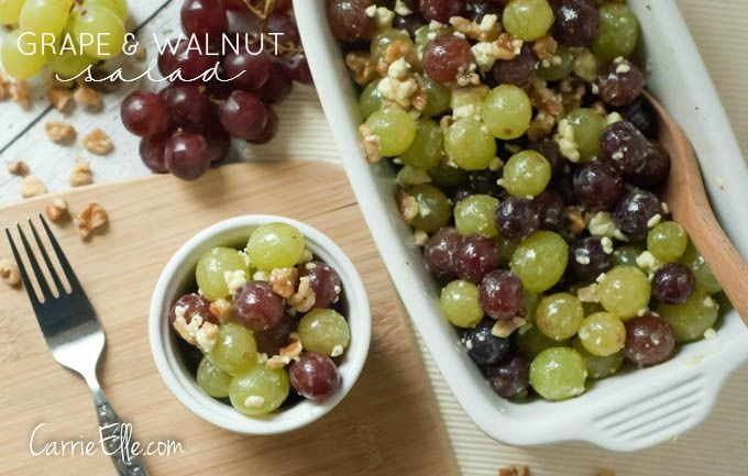 You will love this healthy, tasty, and easy-to-make Grape Walnut Salad!