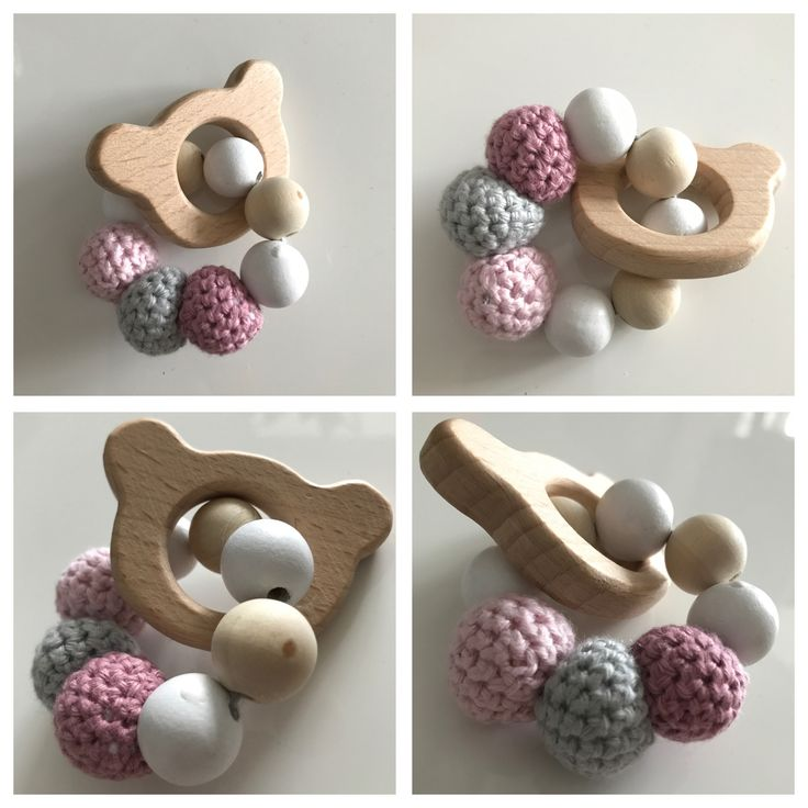 Bear rattle 👶🏼💕 - Made by Mikie Hjelm