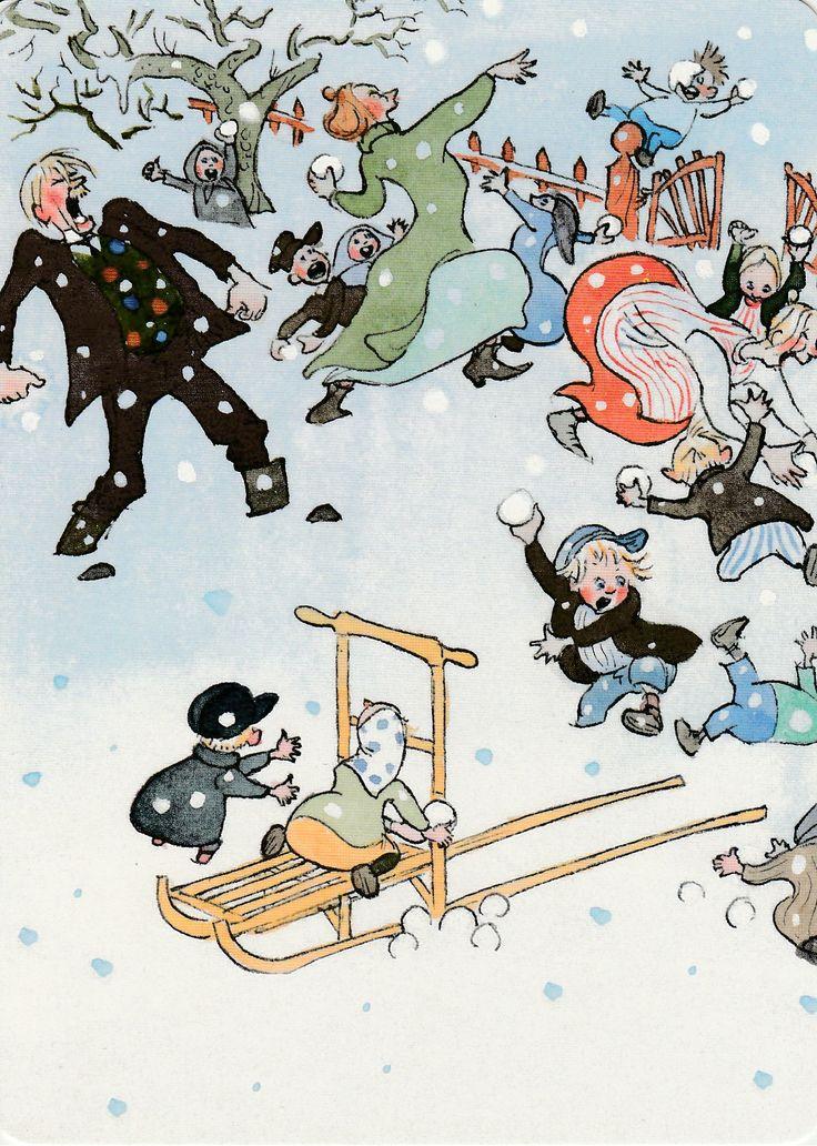 Illustration for Astid Lindgren's books