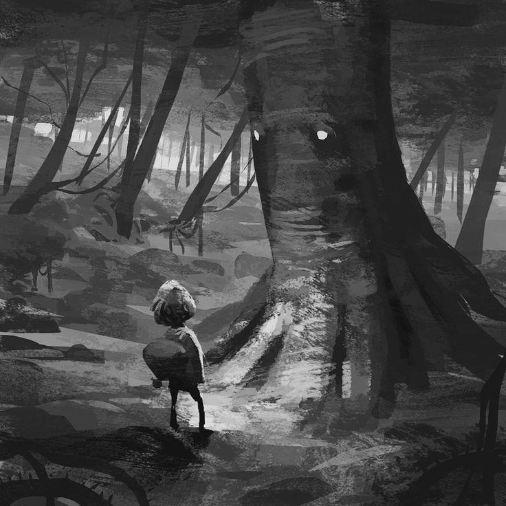 #dani_diez #illustrator #illustration #visual_development_artist #games #animation #fantasy #sci-fi #black_and_white #dark #bk #noipic