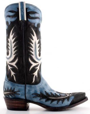 men's cowboy boots - something blue