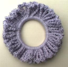 One-Round Hair Scrunchie Crochet Pattern