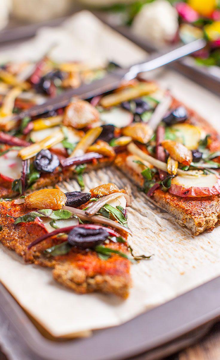 Vegan Cauliflower Pizza Crust Recipe.   #recipe #Healthy #Easy #Recipe   @xhealthyrecipex  