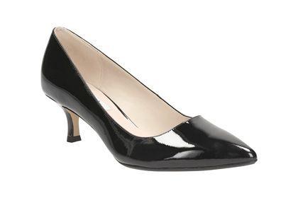 Klassische Mid-Heel Pumps mit femininem 5,5 cm Kitten-Heels Absatz, Clarks Aquifer Soda, 99,95 Euro: http://www.clarks.de/p/26105451