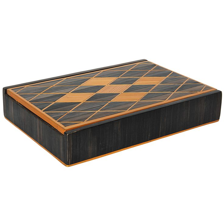 Andre Arbus (attr.) French Art Deco Straw Marquetry Box c. 1940   From a unique collection of antique and modern decorative boxes at http://www.1stdibs.com/furniture/more-furniture-collectibles/decorative-boxes/
