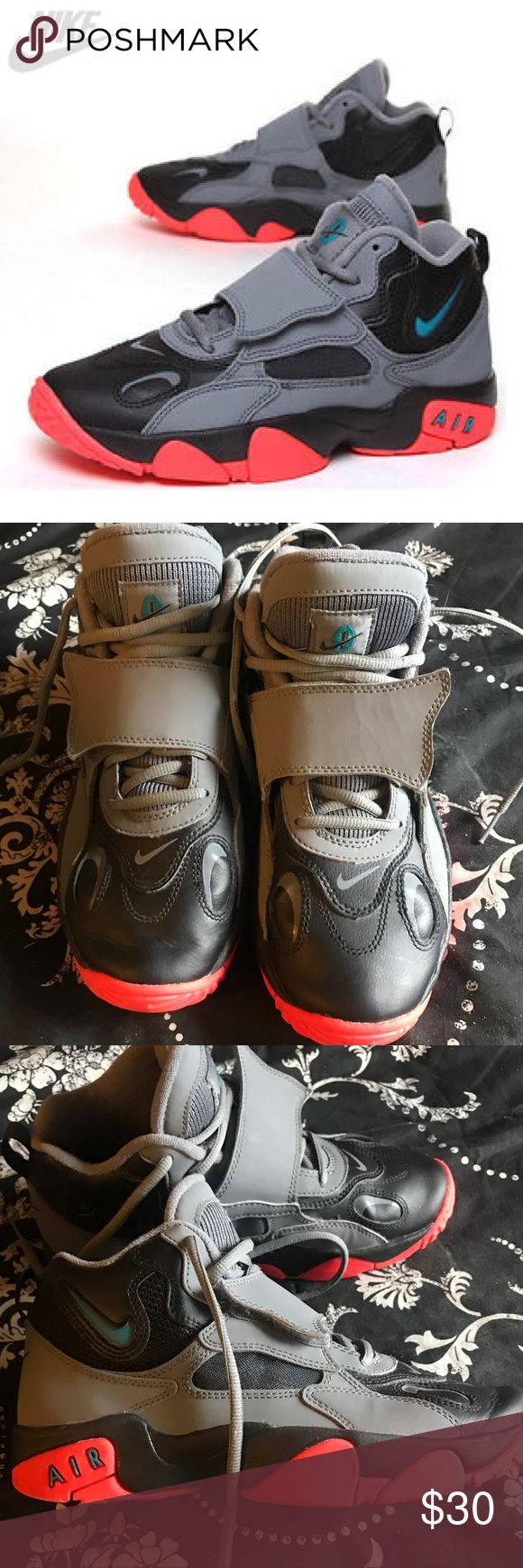 Nike Air Speed Turf kids Basketball Shoes. Nike Air Speed Turf Kid's Gray Black Orange Basketball Shoes Size 6.5Y. Great condition. Nike Shoes Sneakers