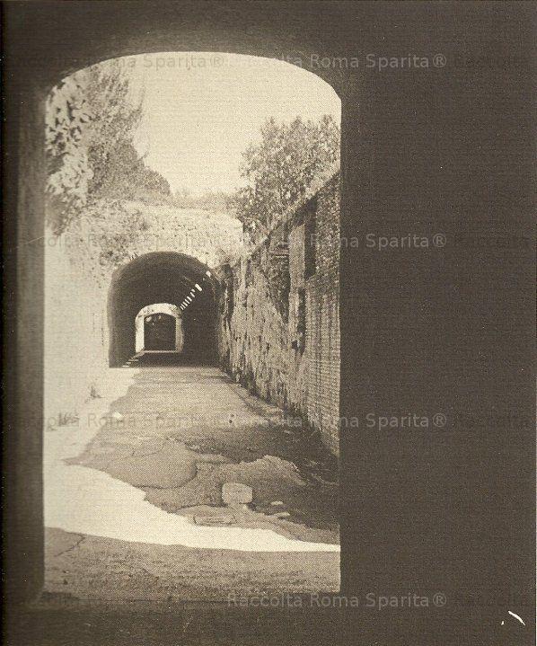 Domus Transitoria: criptoportico neroniano che collegava la domus aurea alla domus transitoria. primi 900