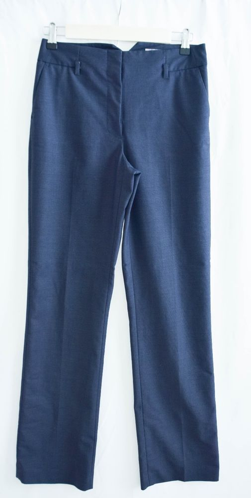 H & M Women's Navy Career Slacks Size 4 Pre-Owned Polyester,Viscose,Elastane #HM #DressPants