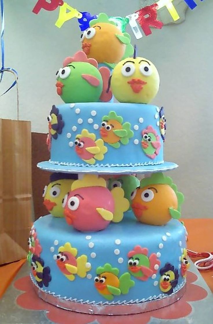 kids cake ideas fish theme birthday cake baking 5309