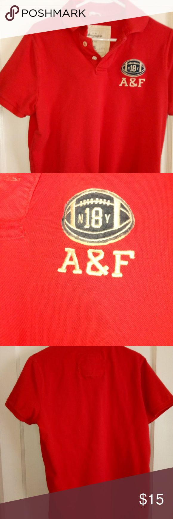 Mens xxl muscle shirt Men's reddish orange  Abercrombie muscle shirt euc Abercrombie & Fitch Shirts Polos