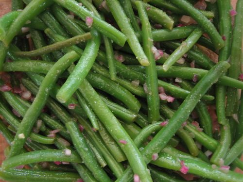 Marinated Green Bean Salad - Recipe for Green Beans in Shallot Dressing--Made today.  Love!!