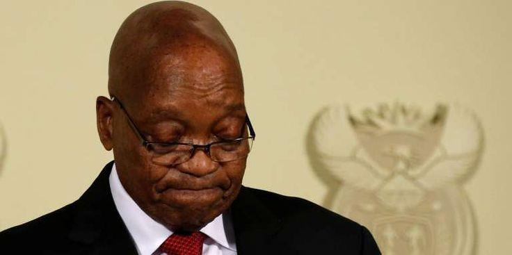 """Afrique du Sud : les casseroles judiciaires de Jacob Zuma - Lancien président sud-africain Jacob Zuma lors de lannonce de sa démission à Pretoria le 14 février 2018. Jacob Zuma a finalement démissionné mercredi 14février poussé dehors par son propre parti le Congrès national africain (ANC) au terme de longues tractations. - http://ift.tt/2BwX1tp - \""""lemonde a la une\"""" ifttt le monde.fr - actualités  - February 15 2018 at 08:09AM"""