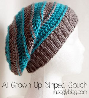 01b2c112fad All Grown Up Striped Slouchy Hat