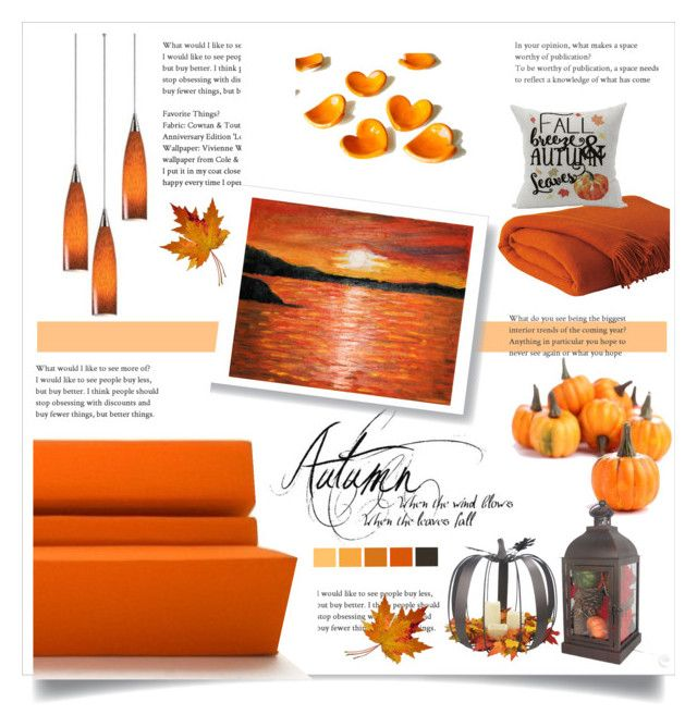 autumn home decor by levai-magdolna on Polyvore featuring interior, interiors, interior design, home, home decor, interior decorating and ELK Lighting