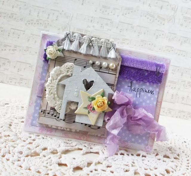 Lavander happiness card by Tanya Privalova for DT Papirdesign