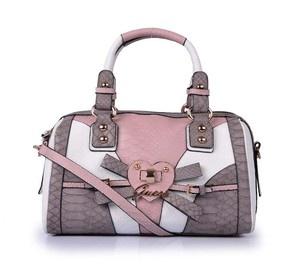 Guess Multi Pink Satchel Handbag Purse