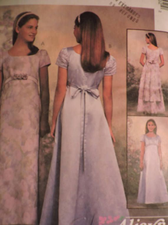 Girls Lined Dress Classic Design Special Event McCall's