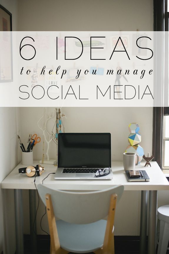 6 ideas to help you manage your blog's social media - so useful!