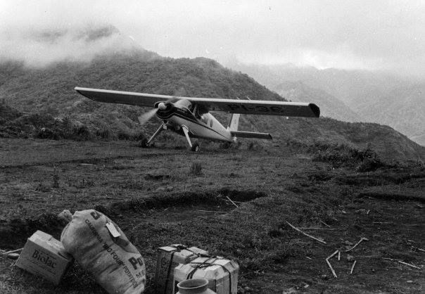 After a year Jo and her translation partner, Ann, no longer had to hike in and out of Balangao after the first airstrip was built - 450 feet long, circa early 1960s. Photo courtesy of Jo Shetler.  www.facebook.com/JAARSinc
