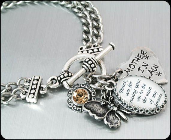 Mother in Law Bracelet Mother in Law Jewelry by BlackberryDesigns, $48.00