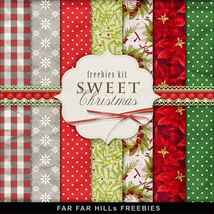 FAR FAR HILLS - New Freebies Kit of Backgrounds - Sweet Christmas                                                                                                                                                     More