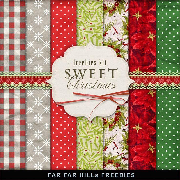 FAR FAR HILLS - New Freebies Kit of Backgrounds - Sweet Christmas