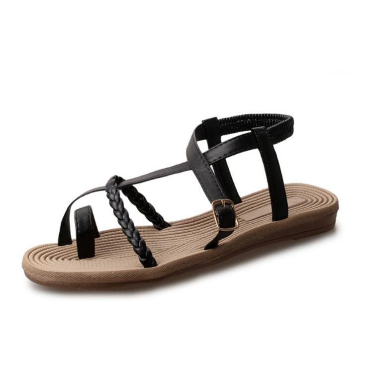 New Summer Shoes Women Sandals Female Korean Version Of The New Fashion Cross Beach Shoes B2617