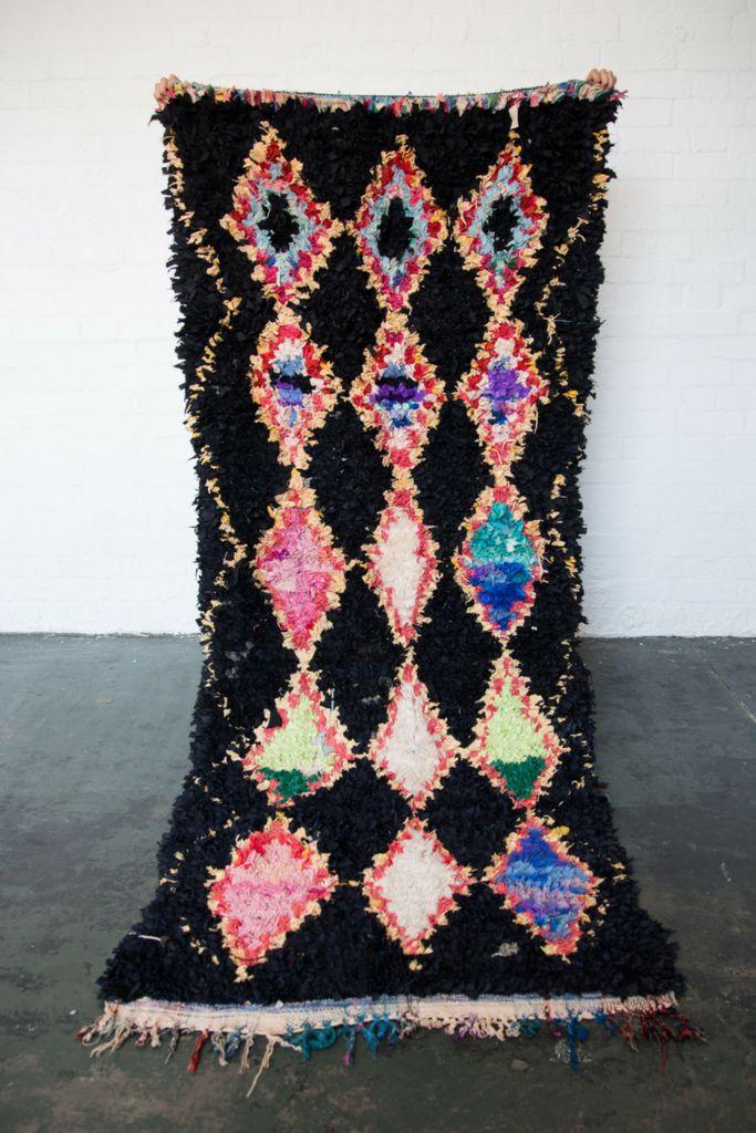 LIQUORICE ALLSORTS Boucherouite rug